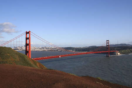 Golden Gate Bridge with San Francisco in background photo
