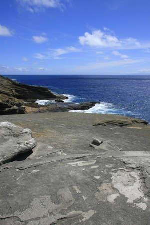 Hawaiian coast built of lava Stock Photo - 11852677