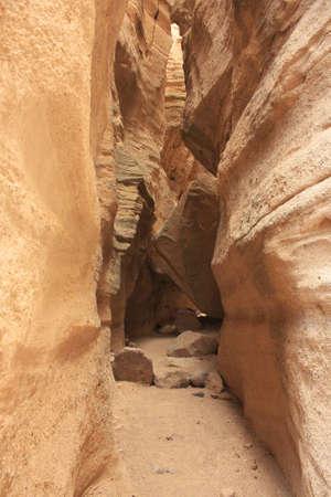 narrowly: View into a narrowing canyon