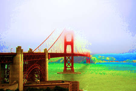 saturation: Golden Gate Bridge with extreme saturation
