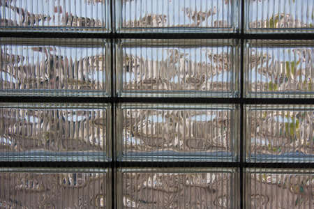 glass brick: Glass brick wall