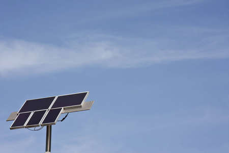 Solar power done by home-owner Stock Photo - 12577405