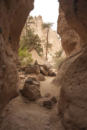 View into by nature formed sandstone canyons photo
