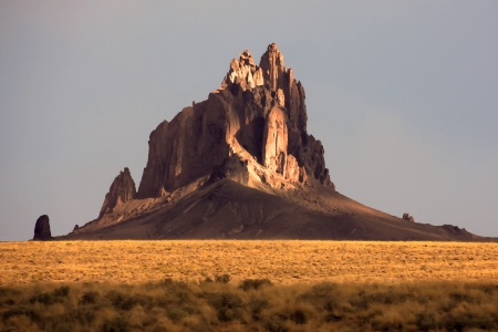 Painting like picture of shiprock in New Mexico photo