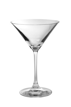 One empty martini glass in a vertical shot photo