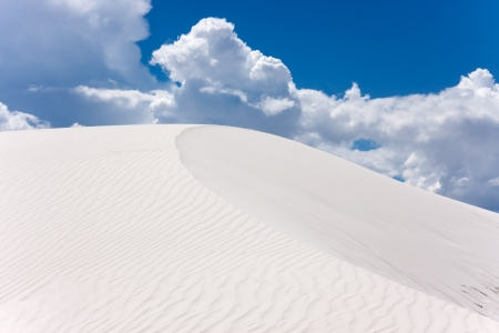 Amazing dunes of New Mexicos desert photo