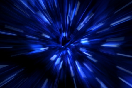Black blue and white simulating speed of light