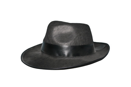 A black hat isolated on white