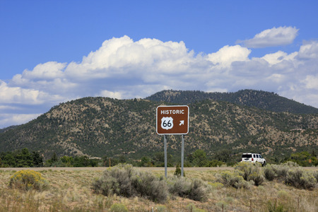 Traffic sign to Route 66 photo