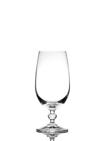 beer tulip: Isolated empty beer glass Stock Photo