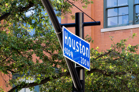 Street sign Houston Street in Dallas