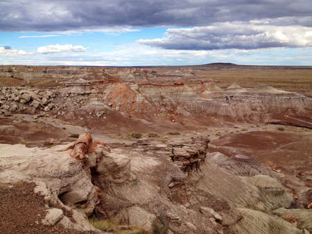 Landscape view over the painted desert