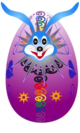 Easter bunny hatched from eggs -  suitable for further treatment Stock Vector - 18341465