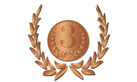 Medal placement on the laurels Stock Vector - 18574606