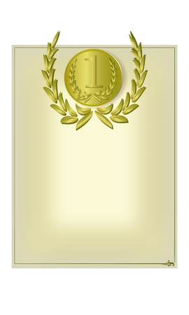 Blank form with a medal for diploma, certificate, etc Stock Vector - 18574614