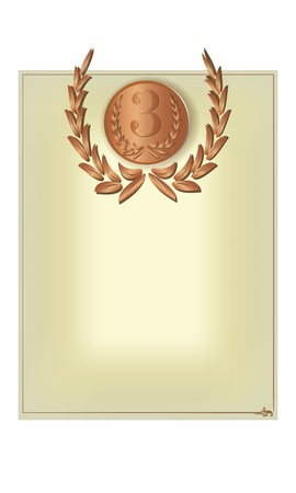 Blank form with a medal for diploma, certificate, etc Stock Vector - 18574616