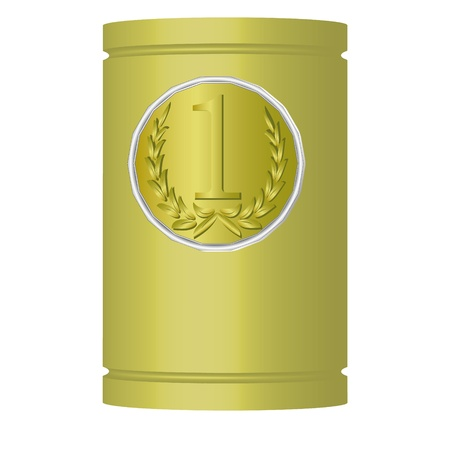 Medal with the laurels on the can of the same color Stock Vector - 18574607