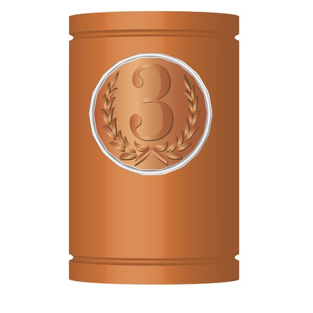 Medal with the laurels on the can of the same color Stock Vector - 18574608