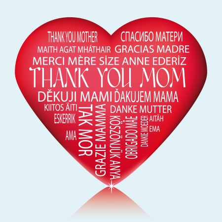 Illustration suitable as a thank you and commemorate Mother Vector