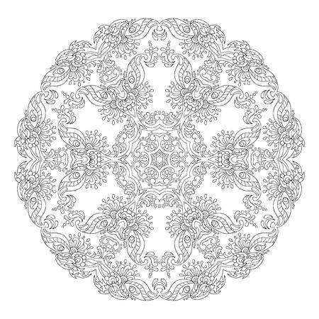 Mandala Geometric circle element made in vector.