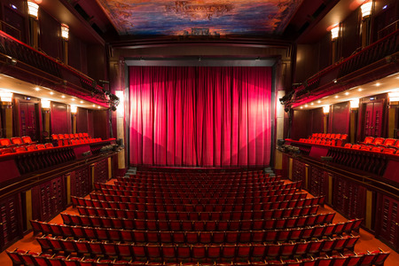 an old theater auditorium