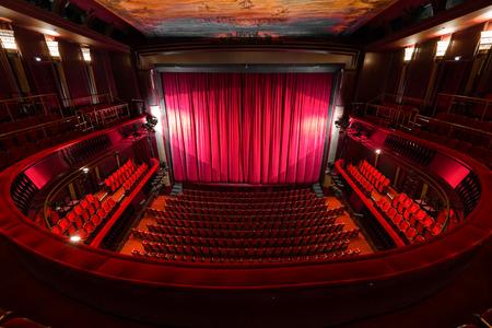 an old theater auditorium