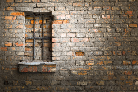 sentenced: brick wall Stock Photo