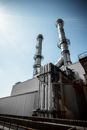 a thermal power station the part of his cooling-tower, exterior photo