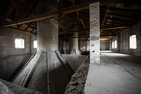 an old desolate brewery attic of his, his chimneys