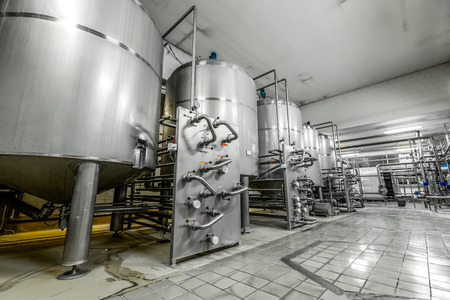 a beer production facility is a modern metal equipment