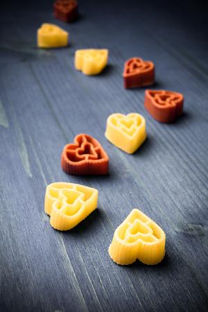 heart shaped italian pasta photo