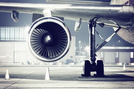 een vliegtuig turbine detail Redactioneel