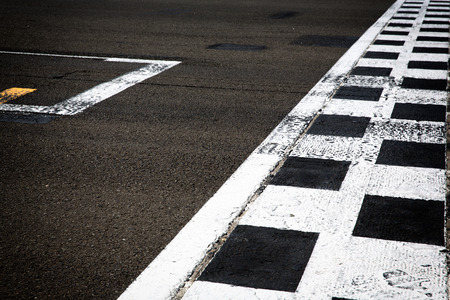 race track: start line