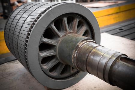 dynamo: an electric power generator, dynamo detail, component Stock Photo