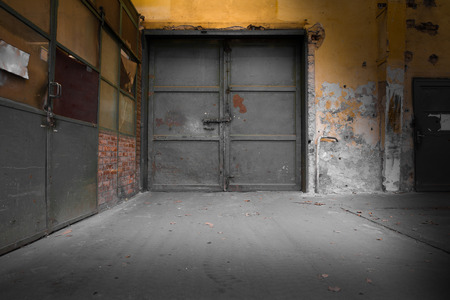 Old Industrial Iron Door, A Machine Factory Photo