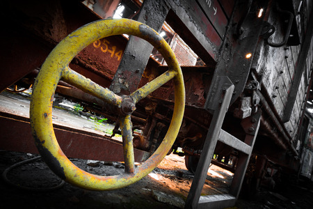 old rusty train wagon details photo