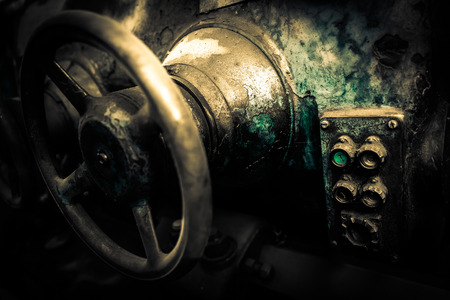 high torque: industrial machines in a old factory