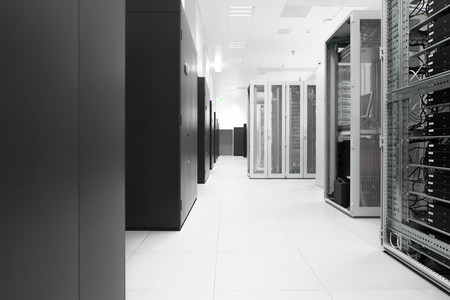 communicati ons server cluster in a server room