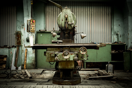 industrial machines in a old factory photo