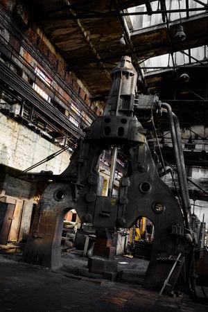 high torque: steam hammer in old iron factory