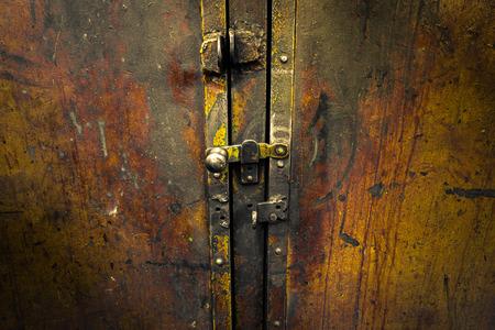 worn: worn iron cupboard door