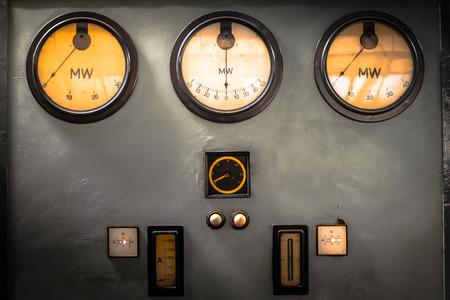 ammeter: old industrial electronics gauge instruments