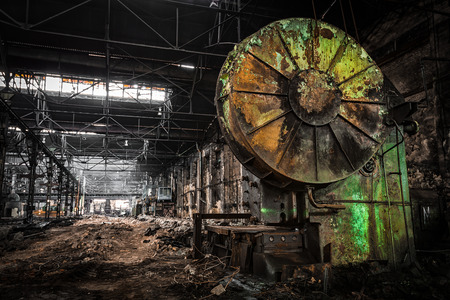metallurgical firm waiting for a demolition
