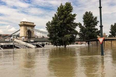 flood in Budapest photo