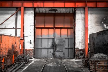 old industrial metal gate photo