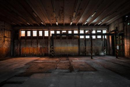 abandoned vehicle repair station photo