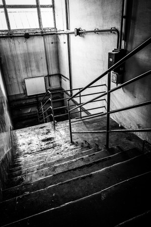 abandoned staircase photo
