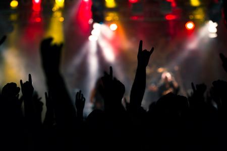 Foto van rock concert, muziekfestival