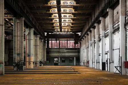 abandoned old vehicle repair station photo