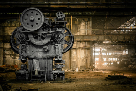 metallurgische stevige wachten op een sloop